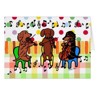 Dachshund String Trio Birthday Cards
