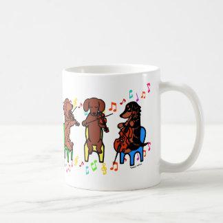 Dachshund String Trio Classic White Coffee Mug
