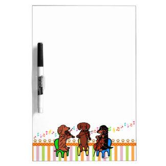 Dachshund String Trio Dry-Erase Board