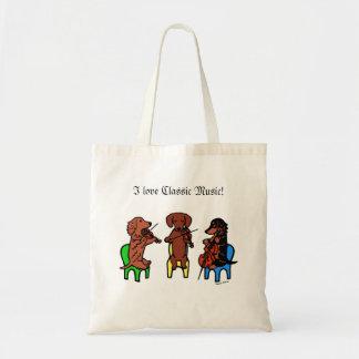 Dachshund String Trio Tote Bag