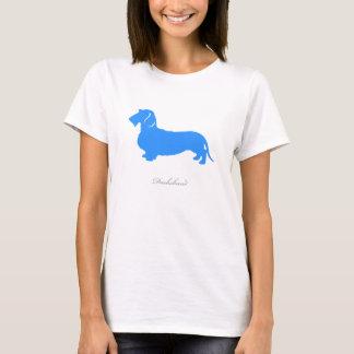 Dachshund T-shirt (blue wire hair version)