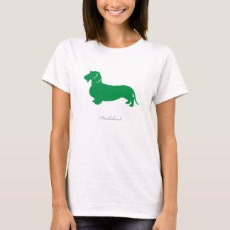 Dachshund T-shirt (green wire hair version)