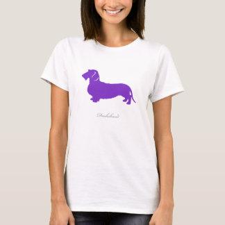 Dachshund T-shirt (purple wire hair version)