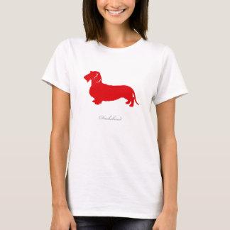Dachshund T-shirt (red wire hair version)