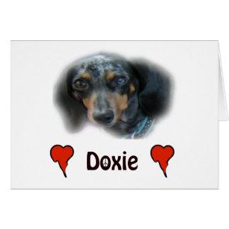 dachshund tarjeta de felicitación