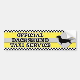 Dachshund Taxi Service Bumper Sticker Car Bumper Sticker