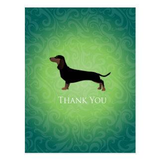 Dachshund Thank You Design Postcard