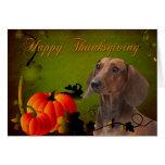 Dachshund Thanksgiving Card