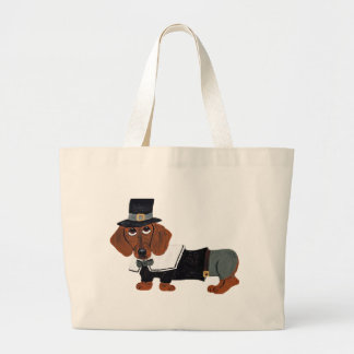 Dachshund Thanksgiving Pilgrim Bag