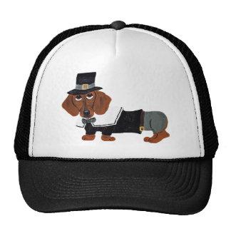 Dachshund Thanksgiving Pilgrim Trucker Hat