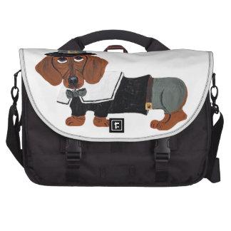 Dachshund Thanksgiving Pilgrim Laptop Bag