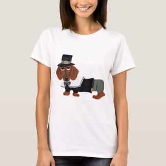 Dachshund Thanksgiving Pilgrim T-Shirt
