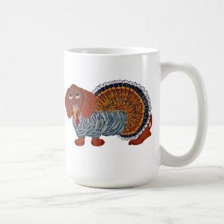 Dachshund Thanksgiving Turkey Classic White Coffee Mug