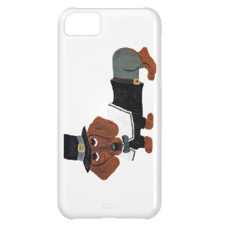 Dachshund Thanksgviving Pilgrim iPhone 5C Covers