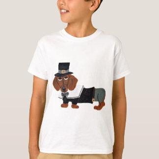 Dachshund Thanksgviving Pilgrim T-Shirt