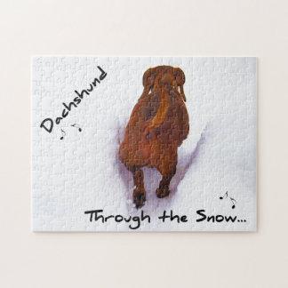 Dachshund Through Snow Dashing Through the Snow Puzzle