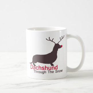 Dachshund Through The Snow Coffee Mug