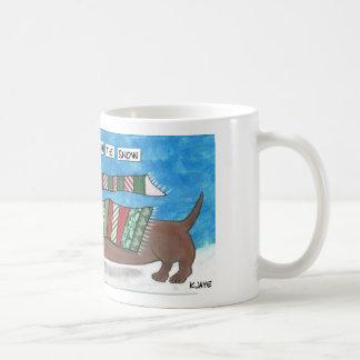 Dachshund Through The Snow - Funny Doxie Christmas Coffee Mug