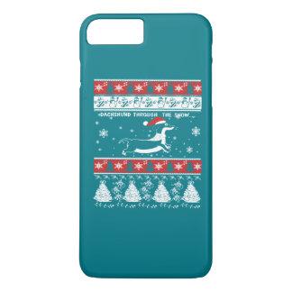 DACHSHUND THROUGH THE SNOW iPhone 8 PLUS/7 PLUS CASE