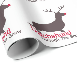 Dachshund Through The Snow Wrapping Paper