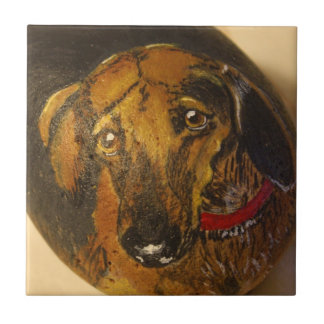 Dachshund Small Square Tile