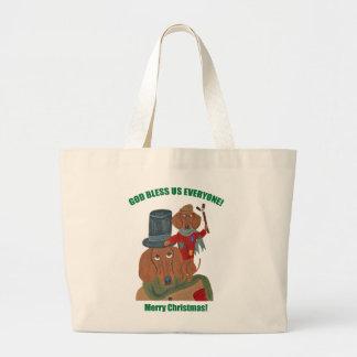 Dachshund Tiny Tim Canvas Bag