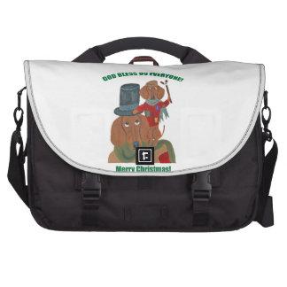 Dachshund Tiny Tim Laptop Bag