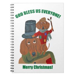 Dachshund Tiny Tim Notebooks