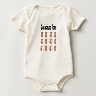 Dachshund Toes Baby  one piece Baby Bodysuit