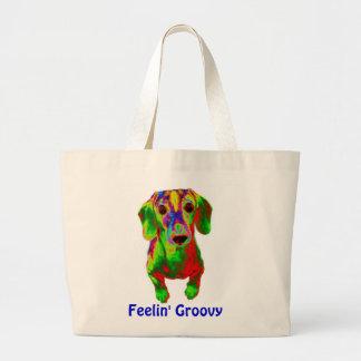 Dachshund Tote Bag - Feelin' Groovy
