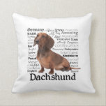 "Dachshund Traits Pillow<br><div class=""desc"">This pillow is a great gift for any Dachshund lover.</div>"