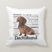 Dachshund Traits Pillow