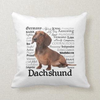 Dachshund Traits Pillow