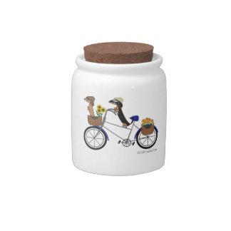 Dachshund Treat Jar Candy Jar by Sudachan