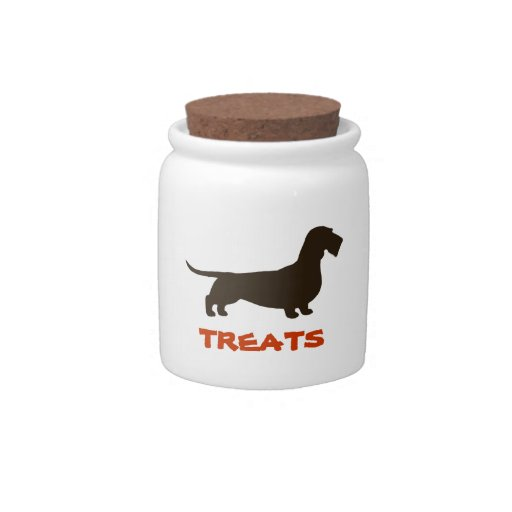 Dachshund Treats (Wire Haired Dachshund) Candy Jar