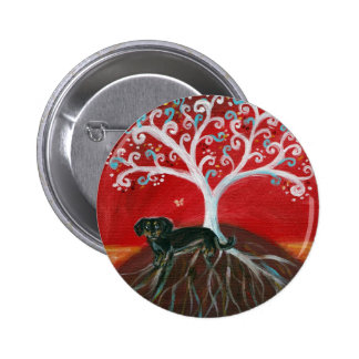 Dachshund & Tree of Life Pinback Button