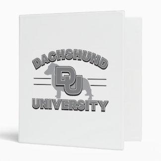 Dachshund University 3 Ring Binder