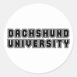 Dachshund University Classic Round Sticker