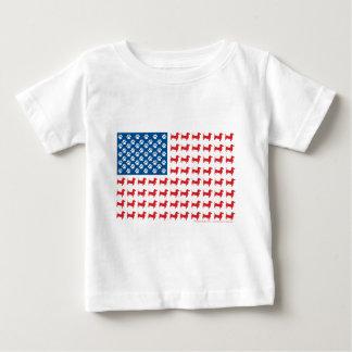 Dachshund USA Patriotic Flag Baby T-Shirt