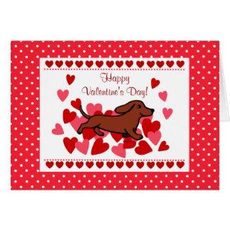Dachshund Valentine Cartoon Card