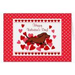 Dachshund Valentine Cartoon Greeting Card