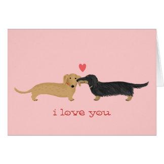 Dachshund Valentine Kiss Card