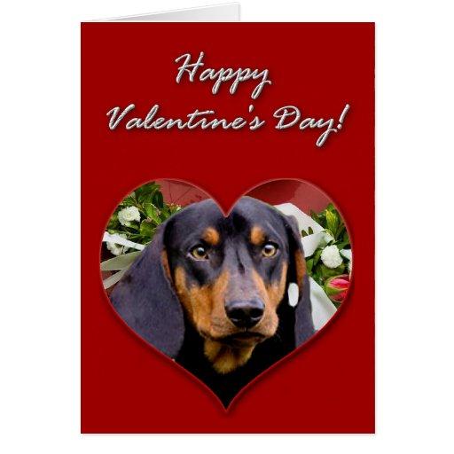 Dachshund Valentines Day Card