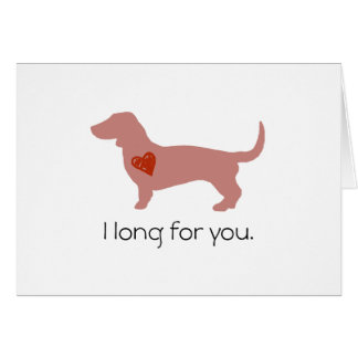 Dachshund Valentine's Day Greeting Card