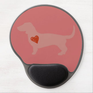 Dachshund Valentine's Day Gel Mouse Pads