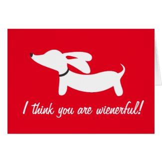 Dachshund Valentine's Day Profits Support DRSF Greeting Card