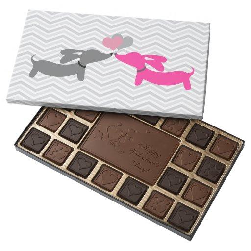 Dachshund Valentine's Day Puppy Love Chocolates