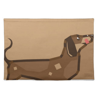 Dachshund vector stylized cloth placemat