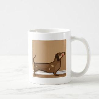 Dachshund vector stylized coffee mug