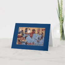 Dachshund Vintage Greeting Card